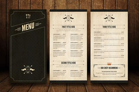 menu template illustrator food menu 5 illustrator template by luuqas design
