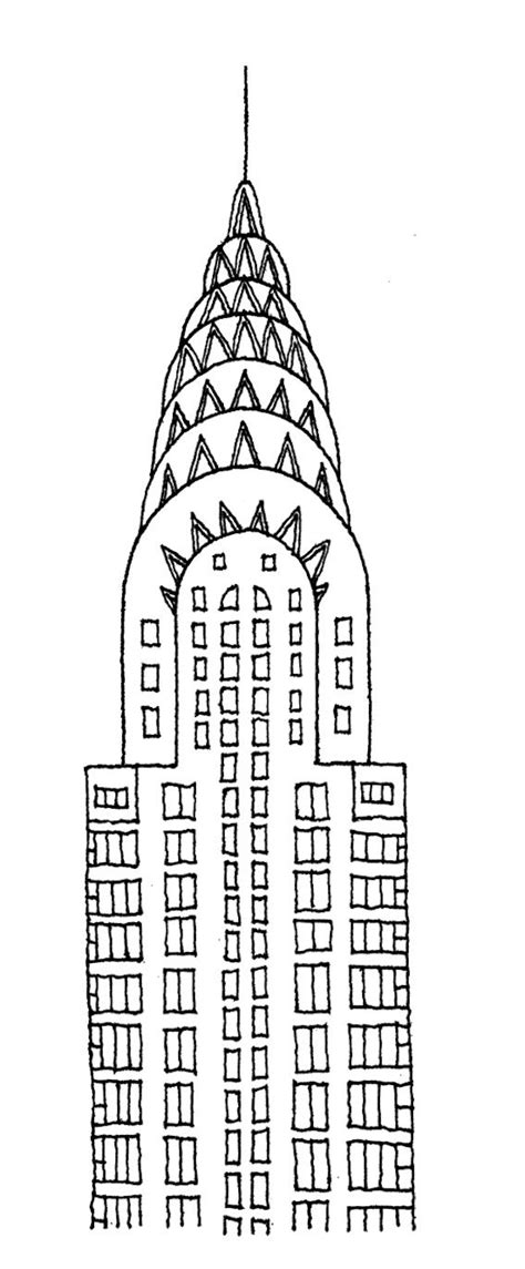 Chrysler Building Drawing by Chrysler Building Drawing Architectural Drawings By