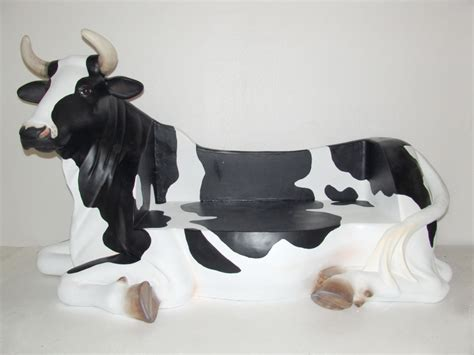 cow couch pop art decoration animals farm cow bench