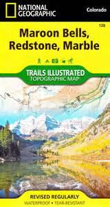 maroon bells colorado map maroon bells redstone marble trails illustrated map