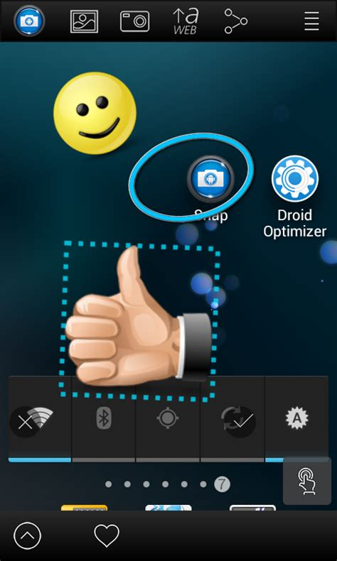 save snaps android screenshot snap free android apps on play