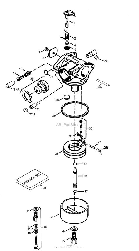 tecumseh carburetor parts diagram tecumseh tec 640025c parts diagram for carburetor