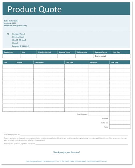 templates for quotations in excel free quotation templates for business