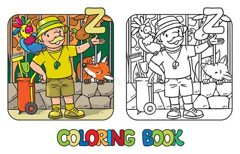 the potty zoo the funniest abc book books zoo keeper coloring book profession abc alphabet z stock