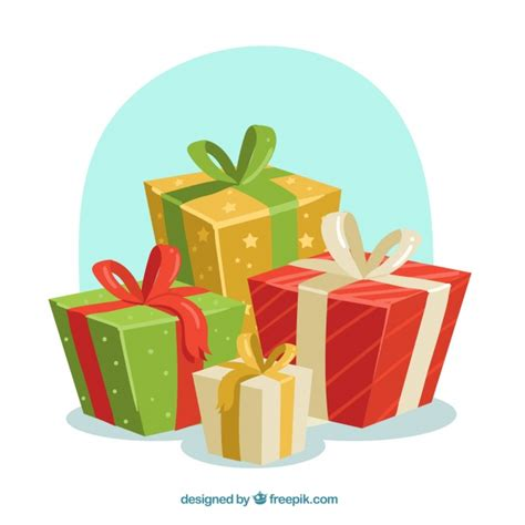 christmas gifts background vector free download