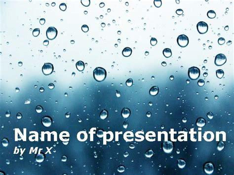 rain powerpoint themes water drops dark atmosphere powerpoint template