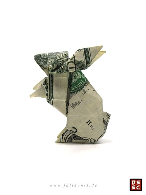 Dollar Bill Origami Rabbit - dollar bill rabbit by origamikuenstler on deviantart