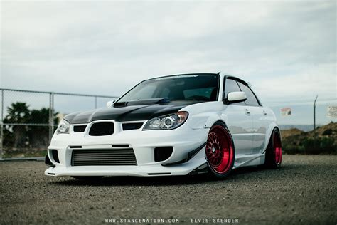 subaru cars white 2006 subaru wrx sti cars white modified wallpaper