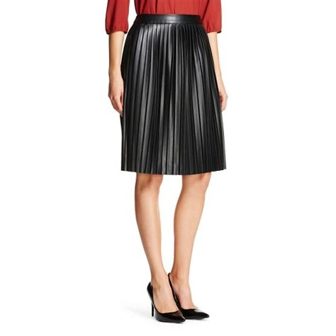 s faux leather a line skirt mossimo target