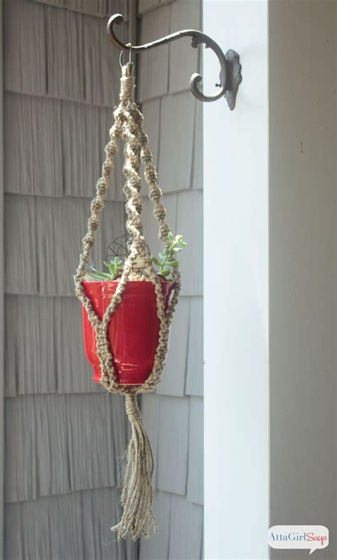 how to make a easy diy macrame plant hanger plant