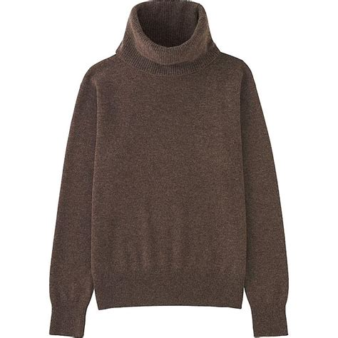 16689 Brown Turtle Neck Sweater turtleneck sweater uniqlo us