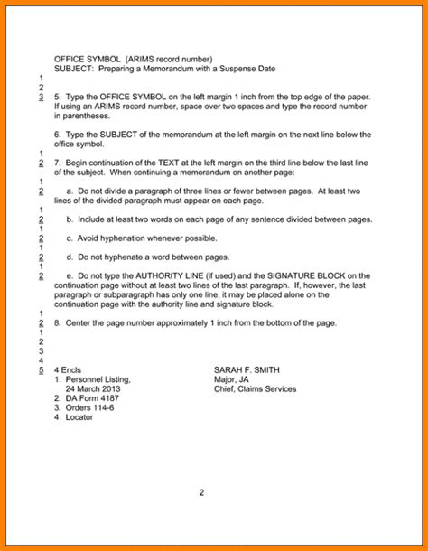 ar 25 50 memorandum template charming ar 25 50 memorandum template contemporary