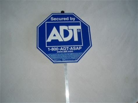 adt home security yard sign ebay
