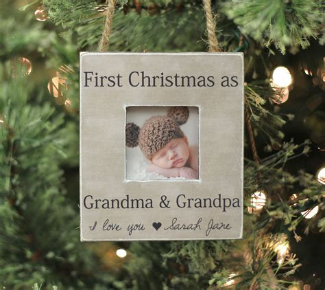 grandparents ornament christmas gift personalized photo