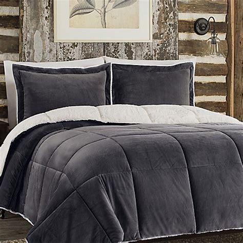 soft grey comforter buy so soft plush reversible full queen comforter set in