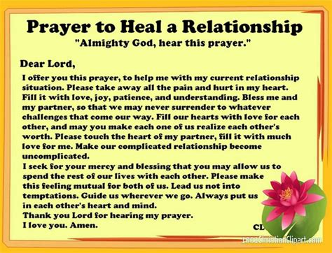 healing relationships your relationship to relationship healing prayer charts graphics