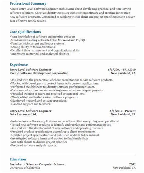 computer science cover letter entry level entry level computer science resume talktomartyb