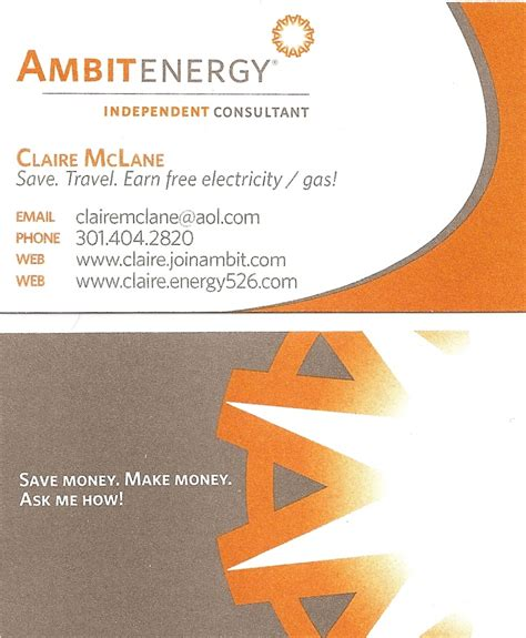 ambit energy business card template 2 x 3 5 business card template business card sle