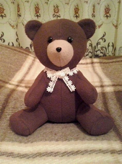 pattern for a fabric teddy bear teddy bear sewing pattern 3050 made to measure sewing