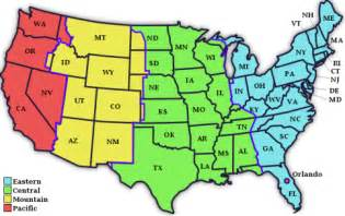 map of time zones in united states guide to disney world florida s timezones