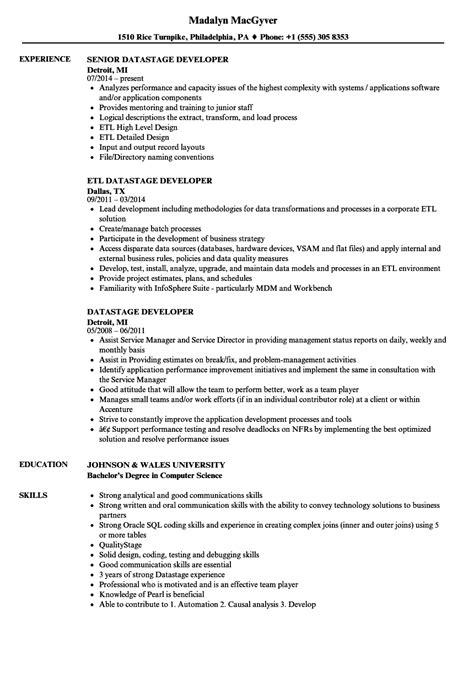 Datastage Developer Sle Resume by Datastage Developer Resume Sles Velvet