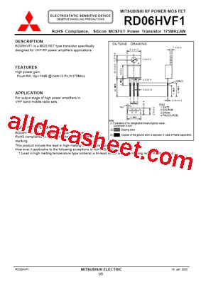 harga transistor rd 06 harga transistor rd 06 28 images rd30huf1 06 datasheet pdf mitsubishi electric semiconductor