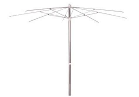 7.5' Aluminum Patio Umbrella with Steel Ribs   Frame Only