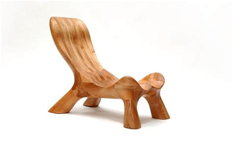 Handmade Wood Chairs - handmade curvechair organically carved solid wood
