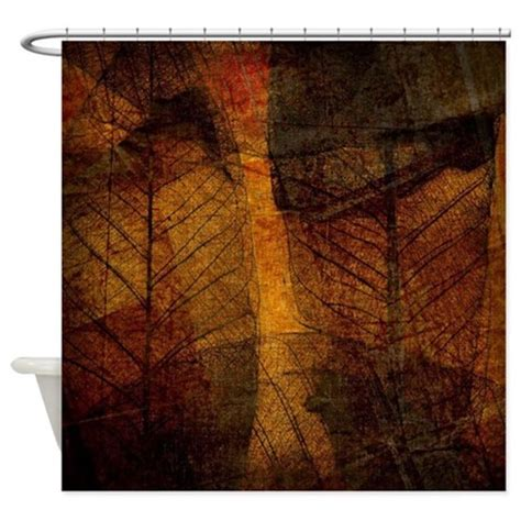 leaf print shower curtain brown leaf print shower curtain by ibeleiveimages
