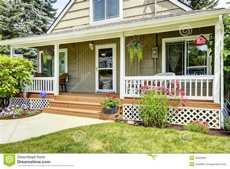 Home Floor Plans Prices house with cozy entrance porch stock photo image 45023997