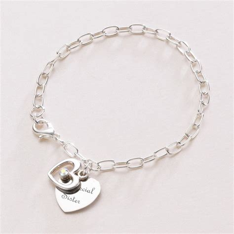 engraved with open bracelet charming engraving
