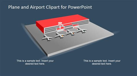 layout of airport ppt 3d airplane and airport shapes for powerpoint slidemodel