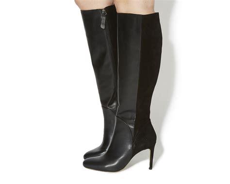 Black Master Boots Laskar Size 39 44 office elliot slim heel knee boots black leather black