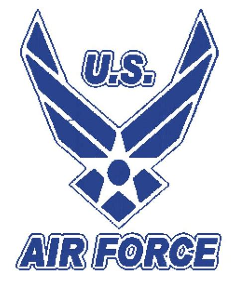 patterned u logo free us air force logo crochet or st quilt pattern