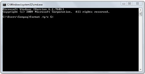 format flash disk by cmd format a pen drive using the command prompt in windows