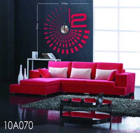 home decor hours fashion stripe ray diy wall clock home watch decor hours
