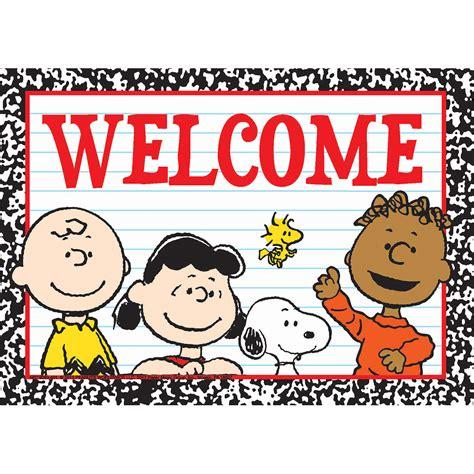 theme line snoopy free peanuts welcome teacher cards eureka school