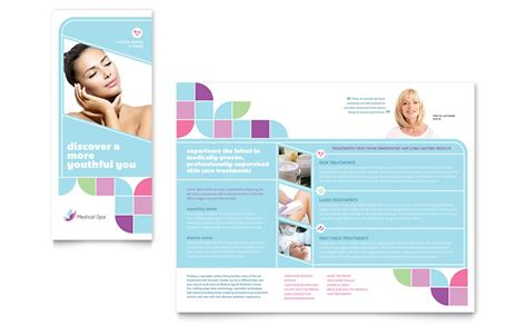 medical spa brochure template word publisher