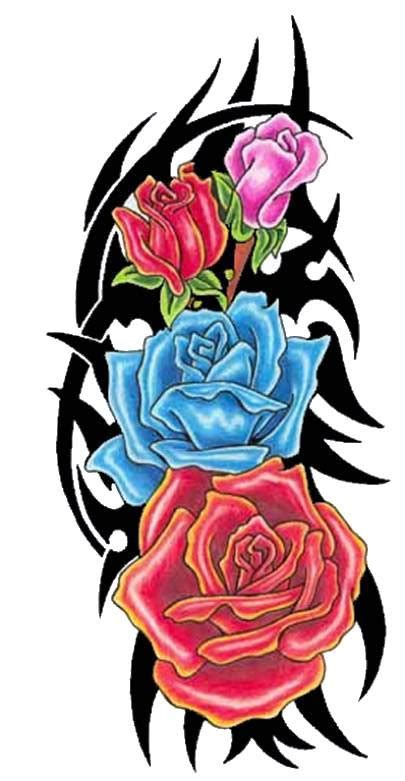 rose with tribal tattoo designs tribal clipart best