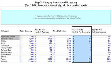 Expense Tracking Spreadsheet by Budget Tracking Vertola