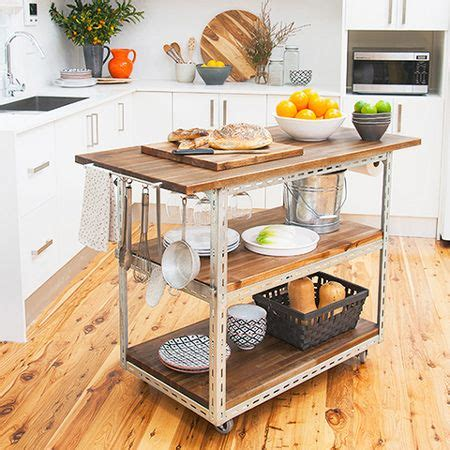 mobile island benches for kitchens diy mobile kitchen island or workstation steel shelving components kitchen islands