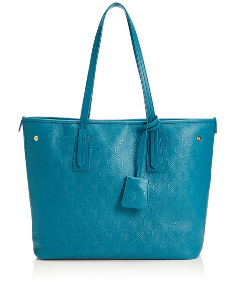 liberty teal iphis leather marlborough small tote