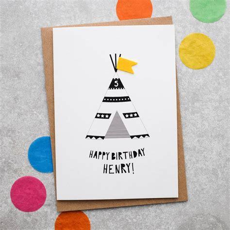 Children S Personalised Birthday Cards Personalised Teepee Children S Birthday Card By Hello