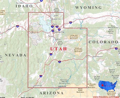utah state map utah maps