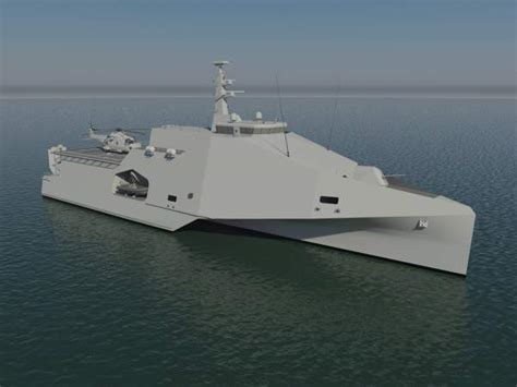 trimaran warship design austal mrv 80 multirole vessel naval technology