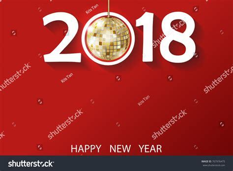 happy new year 2018 greeting card stock vector happy new year 2018 greeting card stock vector 767976475