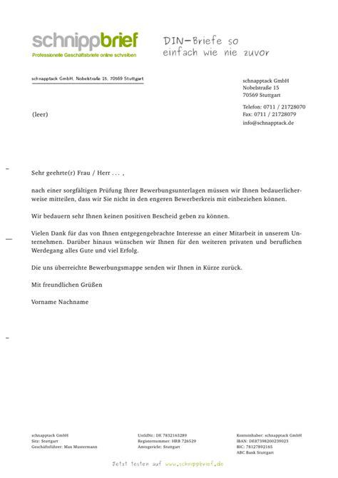 Absage Bewerbung Email Vorlage muster vorlage absage bewerbung zum