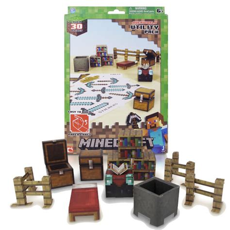 Minecraft Papercraft Utility Pack - papercraft minecraft 30 piezas quot accesorios pack