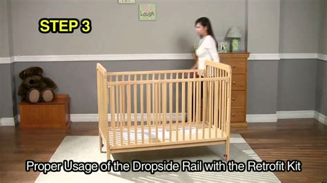 How To Fix A Drop Side Crib by Rails Retrofit Kit Dropside Crib Mov
