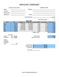 weekly quarter hours rounded printable time sheet